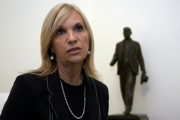 La presidenta del directorio blanco recibió la confirmación de Vázquez. Foto: M. Bonjour