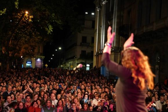 Malena Muyala en Montevideo Tango. Foto: Twitter @montevideoIM