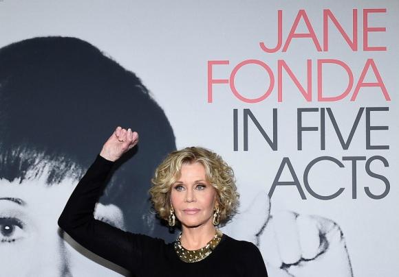 Jane Fonda en la presentación del documantal Jane Fonda in Five Acts. Foto: Difusión