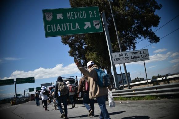 Unos 3.230 migrantes tramitaron su condición de refugiados. Foto: AFP