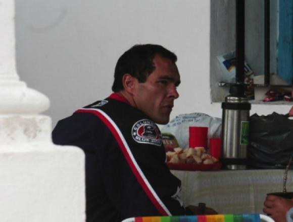 """Marcelo """"Pelado"""" Roldán en La Tablada en 2007. Foto: archivo El País."""