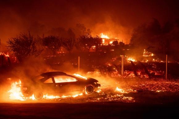 Incendio en California. Foto: AFP