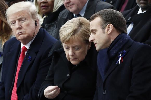 Macron recibió el sábado pasado a decenas de jefes de Estado. Foto: EFE