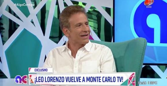 Leo Lorenzo en Algo Contigo. Foto: captura