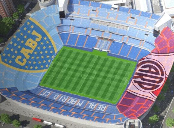 Así será la distribución de las tribunas en el Bernabéu. Foto: SportsCenter.