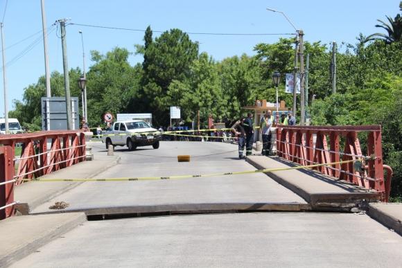 Eje roto: desplazamiento del puente. Foto: Daniel Rojas