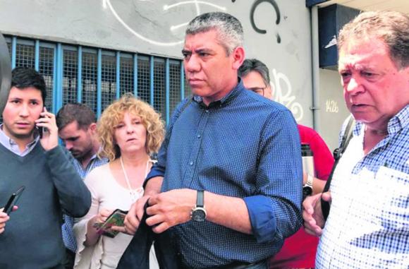La delegación de la lista de Sendic se retiró antes de que finalizara el Plenario para dar una conferencia. Foto: Valeria Gil