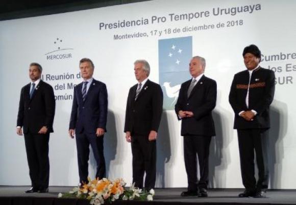 Reunión del Mercosur en Montevideo. Foto: Twitter @MRE_Bolivia