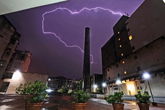 Tormenta con rayos: Foto: Darwin Borrelli