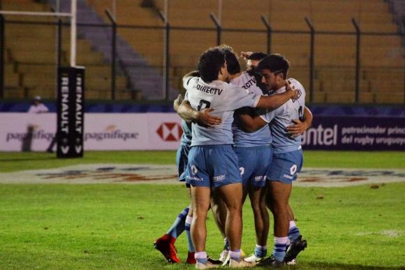 Los Teros vencieron a Sudáfrica en el Seven de Punta del Este. Foto: @RugbyUruguay.