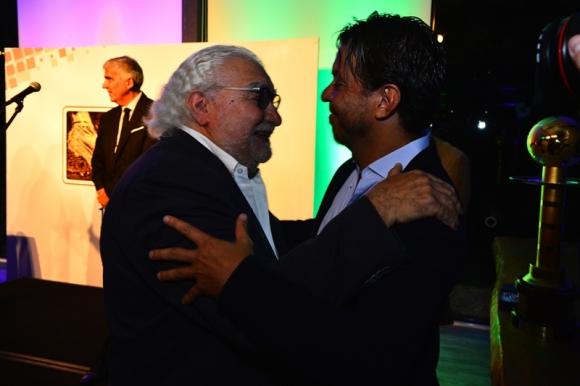 Alarcón junto a Gallardo en la entrega de premios de la Encuesta El País. Foto: Gerardo Pérez.
