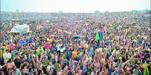 La primera edición de Woodstock ser realizó en 1969. Foto: AFP