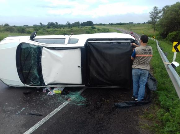 Accidente en la ruta 5. Foto: Unicom