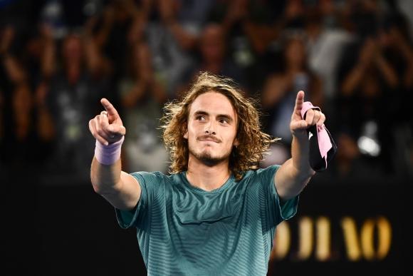 Stefano Tsitsipas. Foto: AFP.