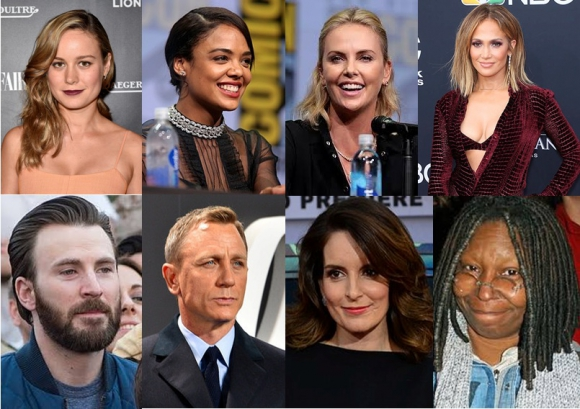 Daniel Craig, Chris Evans, Tina Fey, Whoopi Goldberg, Brie Larson, Jennifer Lopez, Charlize Theron y Tessa Thompson entre los confirmados al Oscar. Foto: Difusión