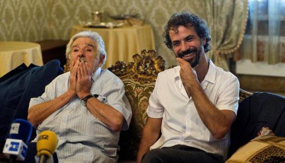 José Mujica y Álvaro Brechner. Foto: EFE