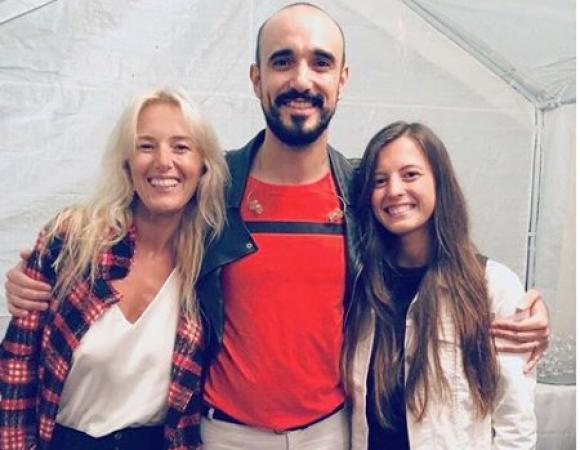 Abel Pintos con Patricia Fierro y Valentina