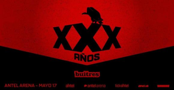 Buitres celebra sus 30 años en el Antel Arena. Foto: Difusión.