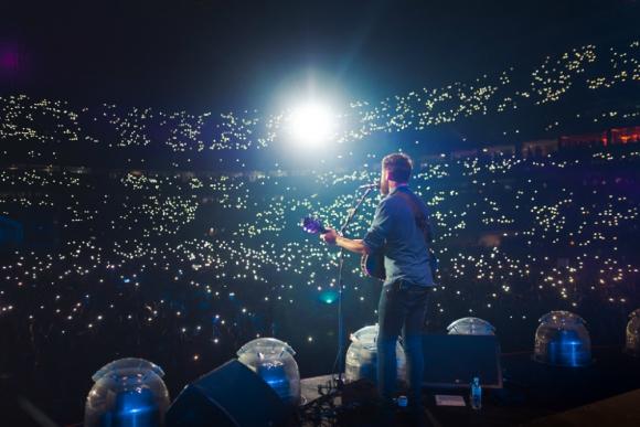 Passenger abriendo el recital de Ed Sheeran en San Pablo. Foto: Jarrad Seng.