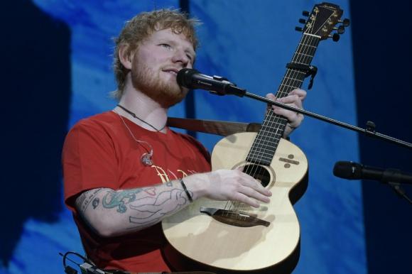 Ed Sheeran en el Estadio Centenario. Foto: Nicolás Pereyra