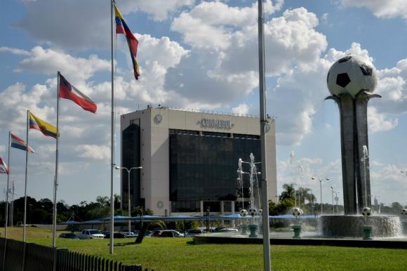 Sede de la Conmebol en Paraguay. Foto: AFP.