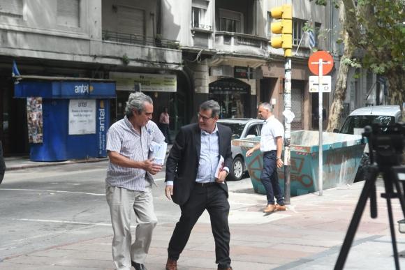 El fiscal Jorge Díaz llegando a la SCJ. Foto: Francisco Flores