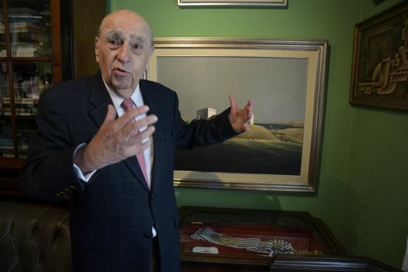 Sanguinetti fue presidente en dos períodos: 1985-1990 y 1995-2000. Foto: Leonardo Mainé.