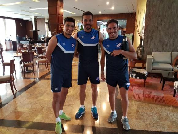 Gonzalo Castro, Esteban Conde y Matías Zunino en Nacional