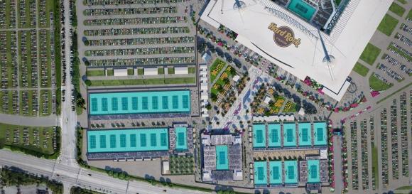 La distribución de las afueras del Hard Rock Stadium. Foto: miamiopen.com