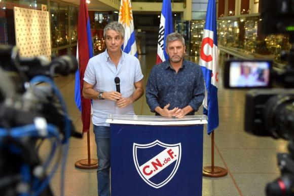 José Decurnex y Alejandro Balbi, presidente y vice de Nacional