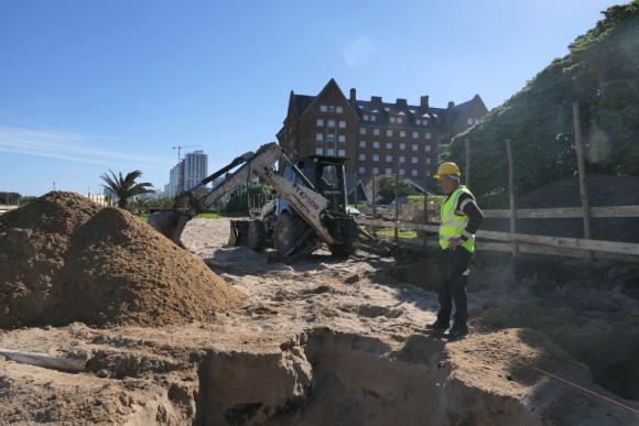 Avanzan las obras en las cercanías del San Rafael. Foto: Ricardo Figueredo