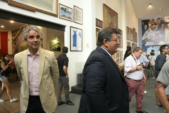 José Decurnex y Jorge Barrera se reunieron esta mañana. Foto: Leonardo Mainé.