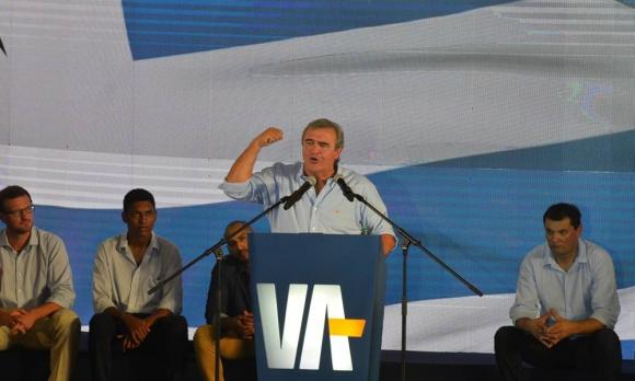 Jorge Larrañaga en la presentación de su candidatura en el club Trouville. Foto: Gerardo Pérez
