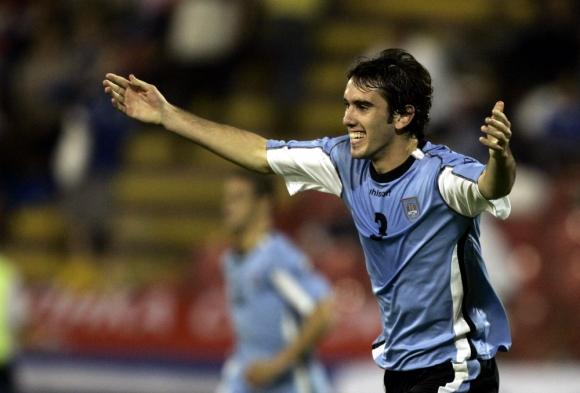 Diego Godín en sus comienzos. Foto: AP.