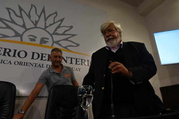 Eduardo Bonomi este lunes en conferencia de prensa. Foto: Fernando Ponzetto
