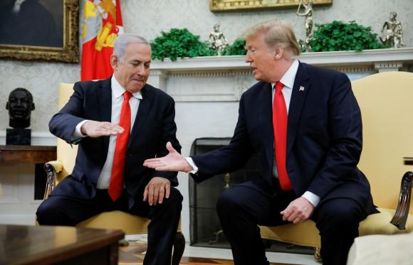 Netanyahu ayer en la Casa Blanca con el presidente Trump; luego regresó a Israel. Foto: Reuters