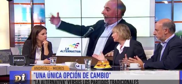 María Noel Marrone, Selva Andreoli y Pablo Mieres