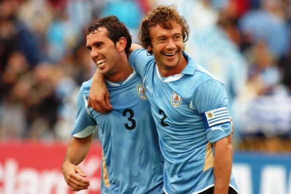 Diego Godín y Diego Lugano