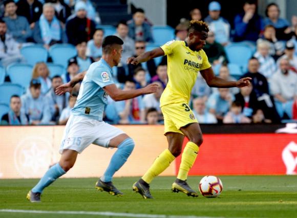 Lucas Olaza hizo su debut en el Celta ante Villarreal. Foto: Efe.
