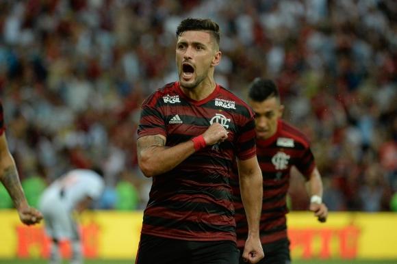 Giorgian De Arrascaeta anotó el domingo para el mengao. Foto: Flamengo.