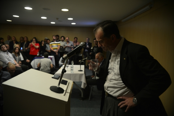 """""""Me duele que el presidente quiera eludir su responsabilidad"""", dijo Manini Ríos. Foto: Gerardo Pérez"""