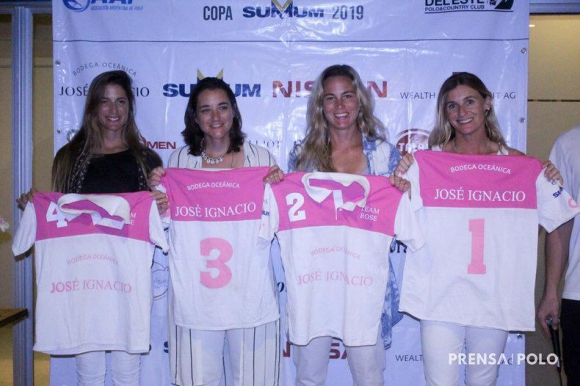 El equipo de Bodega José Ignacio que compitió en el Ladies International. Foto: Prensa Polo.