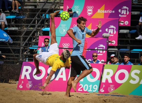 Uruguay viene de participar en los Juegos Sudamericanos de Playa en Rosario.