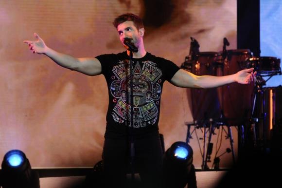 Pablo Alborán en el Antel Arena. Foto: Darwin Borrelli