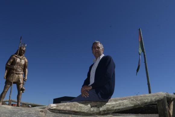 Eduardo Bovio, secretario de la Junta Local de Centenario. Foto: Leonardo Mainé