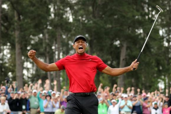Tiger Woods campeón del Masters de Augusta. Foto: AFP.