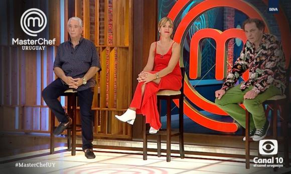Sergio Puglia, Ximena Torres y Laurent Lainé, los jurados de esta edición de Masterchef. Foto: Canal 10