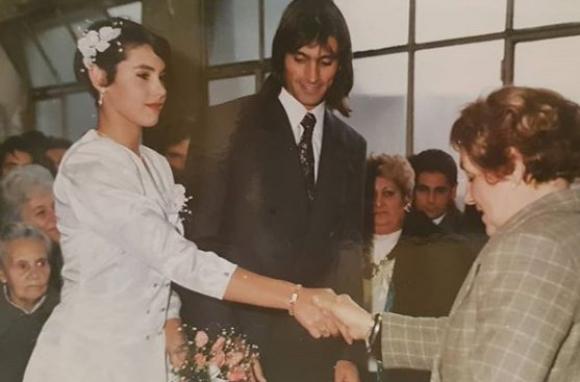 Mónica Farro y Enrique Ferraro en 1993