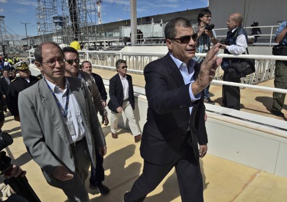 Rafael Correa.  El entonces presidente de Ecuador declaró en diciembre de 2008 que los bonos que vencían en 20212 y 2030 eran ilegales. Foto: AFP.