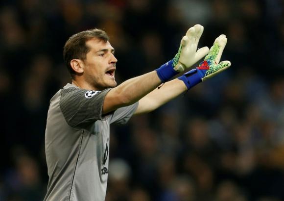 Casillas recibió 35 goles en 42 partidos con el Porto esta temporada. Foto: Reuters.